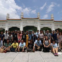 Group shot on the tour day in front of the National Palace Museum.
