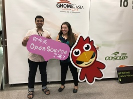 We weren't sure what the sign said, but it said open source so what else matters? :)