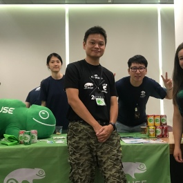 Hanging out at the OpenSUSE booth and learning from their crazy cool marketing efforts, and of course, their awesome community!