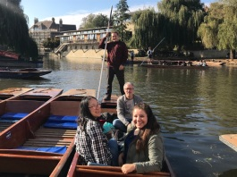 Neil took us on a punting adventure around Cambridge after the hackfest ended