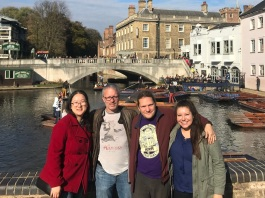 We ran into Matthias in Cambridge and brought him along on our punting adventure